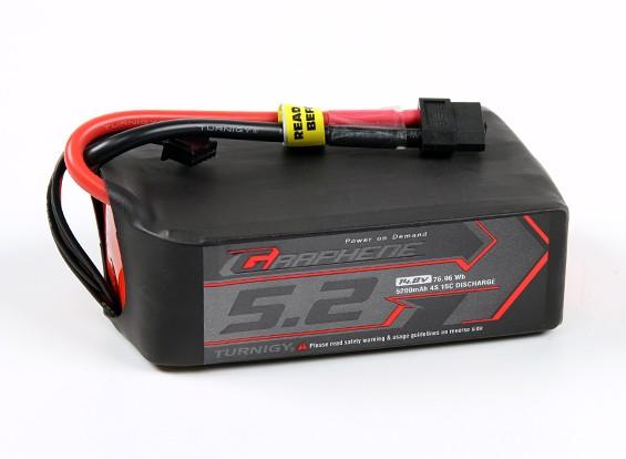 Turnigy Grafeno Professional 5200mAh 4S 15C LiPoly pacote w / XT60