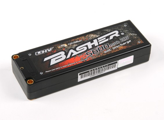 Basher 5600mAh 2S2P 60C Hardcase LiHV pacote