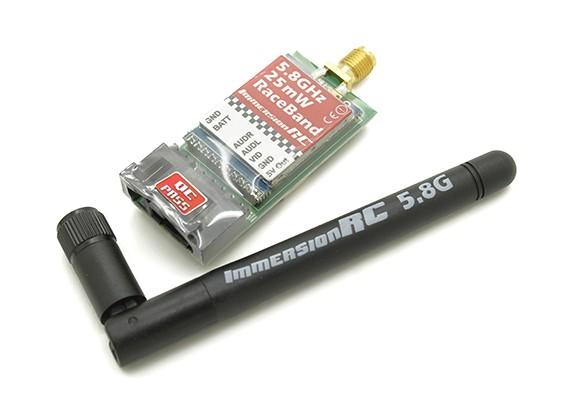 ImmersionRC Corrida Banda 25mW 5.8GHz um transmissor / V