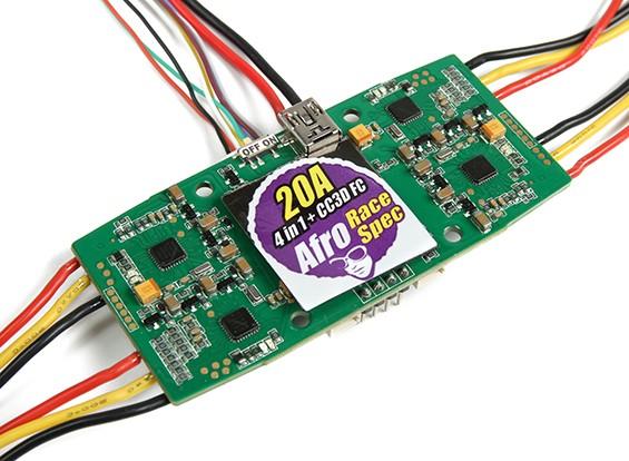 Afro 20A Spec Corrida 4-in-1 ESC e CC3D controlador de vôo