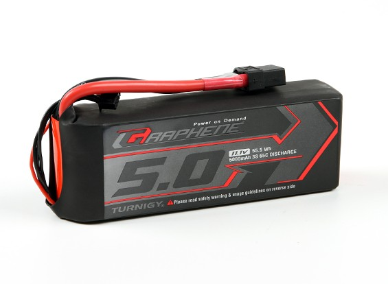 Turnigy Grafeno 5000mAh 3S 65C LiPo pacote w / XT90