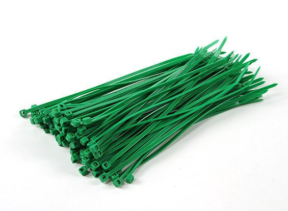 Cintas 150 mm x 3 milímetros Green (100pcs)