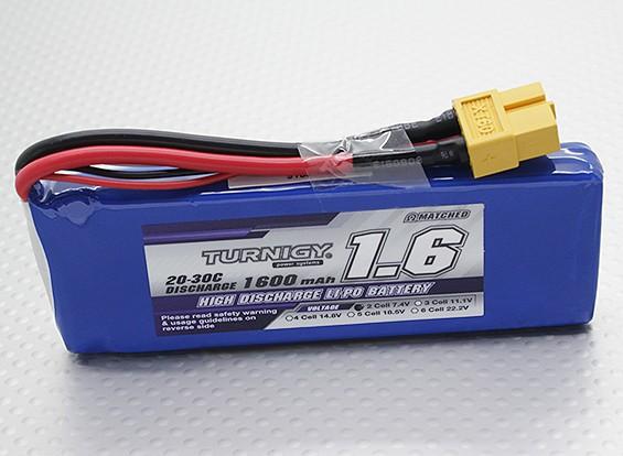Turnigy 1600mAh 2S 20C Lipo pacote