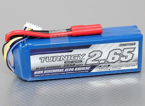 Turnigy 2650mAh 6S 30C Lipo pacote