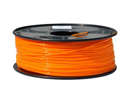 HobbyKing 3D Filament Printer 1,75 milímetros PLA 1KG Spool (Laranja)