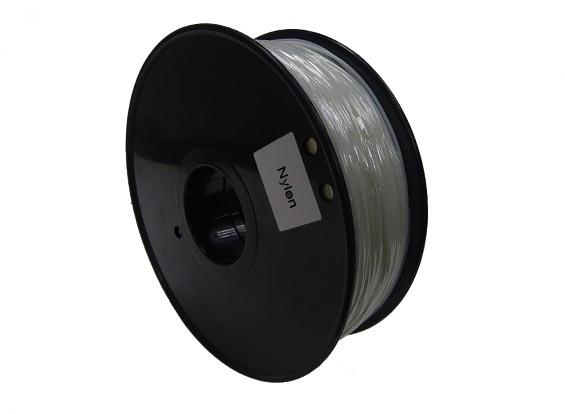 HobbyKing 3D Filament Printer 1,75 milímetros PA Nylon 1,0 kg Spool (Clear)