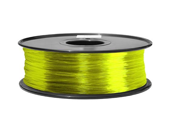 HobbyKing 3D 1,75 milímetros Filament Printer ABS 1KG Spool (Transparente Amarelo)