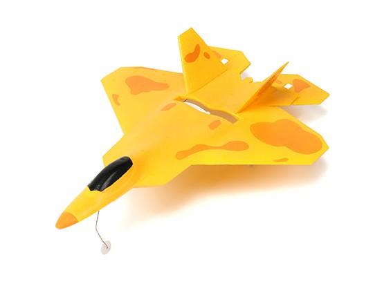 Micro F22 Jet Fighter w / Auto decolagem e estabilidade de controle RTF (escovado Motor Mode1)