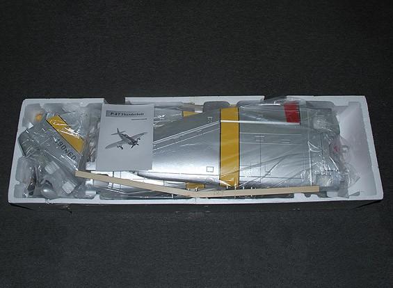 RISCO DENT P-47 Hun Hunter XVI com abas, retrai elétricos e luzes, 1.600 milímetros (PNF)