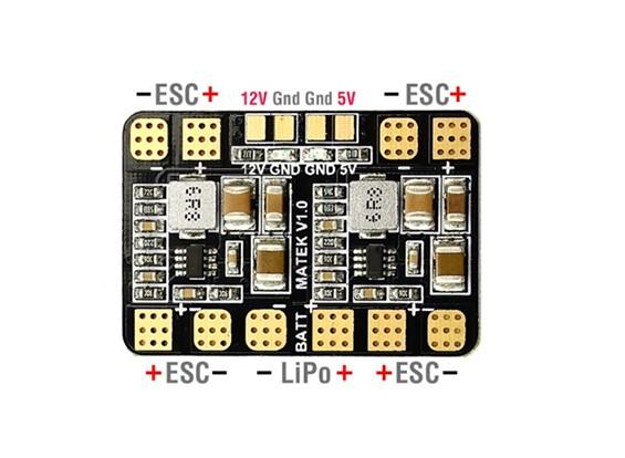 Matek Micro PDB w / BEC (5V e 12V)