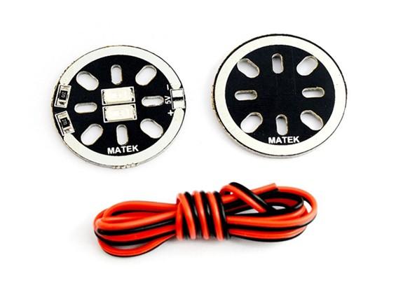 Matek LED Círculo X2 / 5V (vermelho) (2 peças)