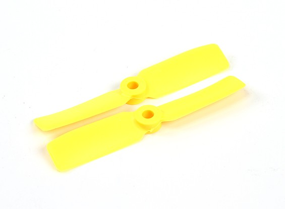 HobbyKing 3550 Bullnose PC Hélices (CW / CCW) Amarelo (1 par)