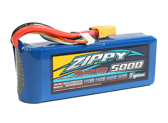 ZIPPY Flightmax 5000mAh 4S1P 30C com XT90