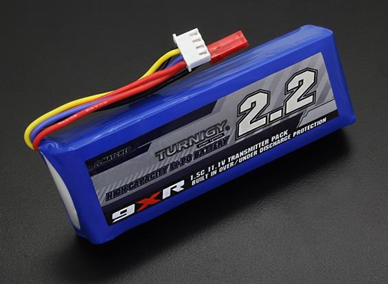 Turnigy 9XR Segurança 11.1v Protegida (3s) 2200mAh 1.5C transmissor pacote
