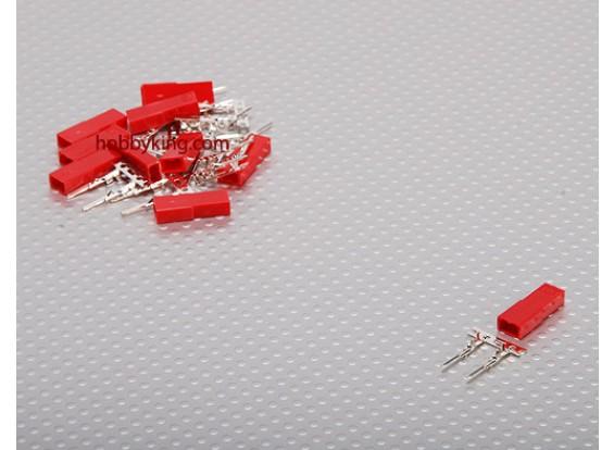 JST Masculino 2 Pin Connector Set (10pcs / set)