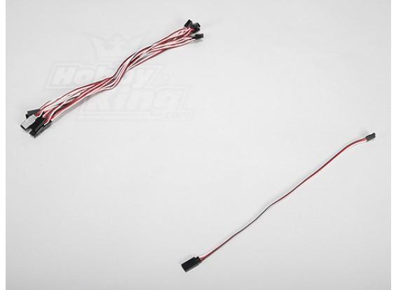30CM Servo de chumbo (Futaba) 32AWG Ultra Light (10pcs / set)