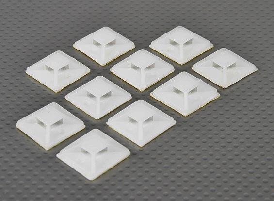 Cable Tie âncoras auto-adesivo tamanho pequeno - 10pcs / bag