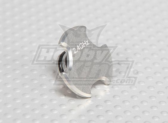 CNC Antena Buraco Cap V2 Ti prata