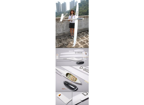 ASW28 Fibra de vidro Glider 2.53M (99.6in) ARF