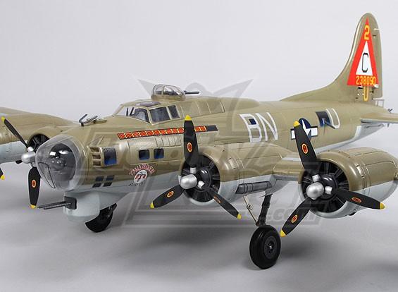 B-17 Flying Fortress (azeitona) 1,600 milímetros Super Detalhe (PNF)
