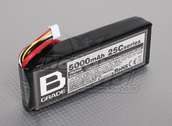 Bateria B-Grade 5000mAh 3S 25C Lipoly