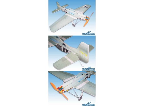 Blue Arrow P51D Choque Flyer kit (Free Post)