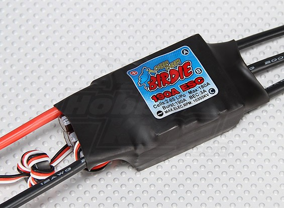 Birdie 190A Brushless ESC w / 3A BEC