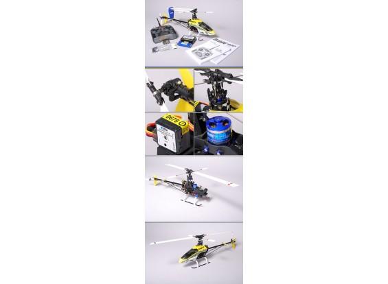 E-flite Lâmina 400 Helicopter 3D & espectro DX6i (Modo 2)
