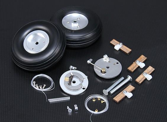 Turnigy 70 milímetros rodas de liga com Sistema de Travagem Integral