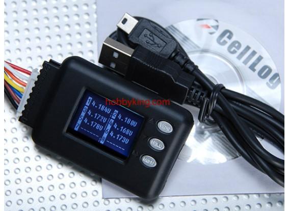 Cell-Log celular Voltage Monitor de 2-8S Lipo