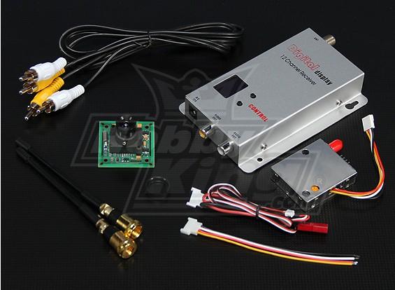 900MHZ 100mW Tx / Rx & câmera CCD de 1/3 polegadas PAL 420TVL