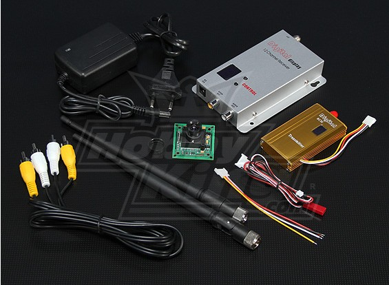 900MHZ 1500mW Tx / Rx & câmera CCD de 1/3 polegadas PAL 520TVL
