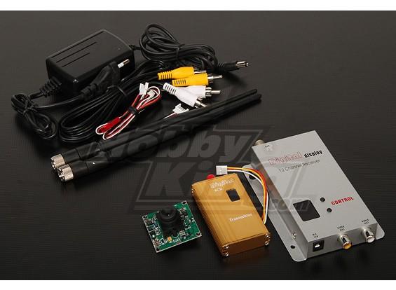 900MHZ 1500mW Tx / Rx & câmera CCD de 1/3 polegadas NTSC