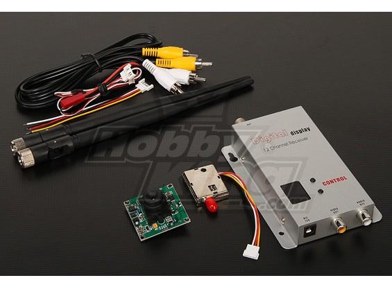 900MHZ 200mW Tx / Rx & câmera CCD de 1/3 polegadas NTSC