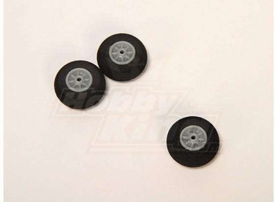 Esponja de rodas D30xH12 (3pcs / saco)