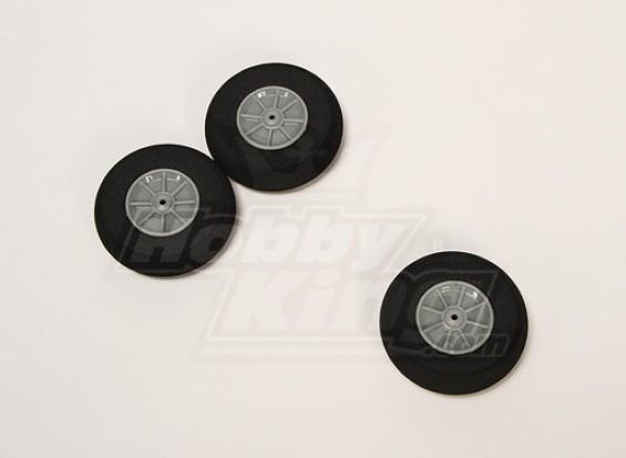 Esponja de rodas D65xH18 (3pcs / saco)