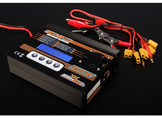 HobbyKing ™ ECO6-10 200W 10A 6S Bal / Dis / Cyc Charger w / acc.