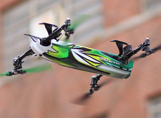 Assalto ceifeira 500 Collective Passo 3D Quadrotor (Modo 1) (Ready to Fly Lite)
