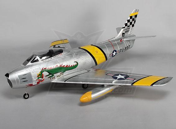 F-86 O Huff EDF Jet 70 milímetros retrai elétricos, Flaps, Airbrake, EPO (PNF)