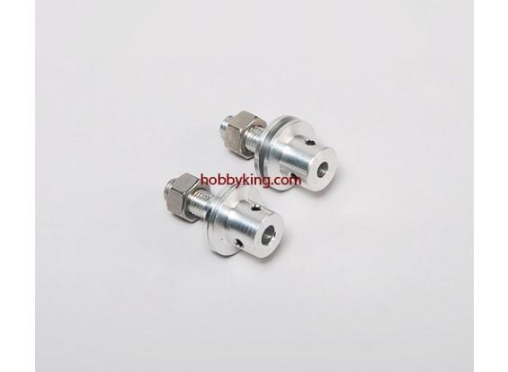 adaptador Prop w / Aço Porca 5 eixo / 16x24-M6mm (Grub tipo parafuso)