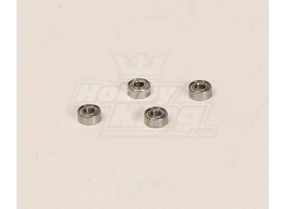 HK600GT Rolamentos Pack (3x7x3mm) 4pcs / bag
