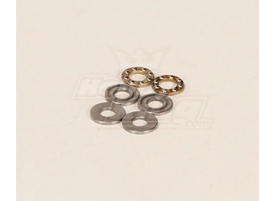 HK600GT Thrust Rolamentos Pack (6.3x13.9x4.9mm) 2pcs / bag