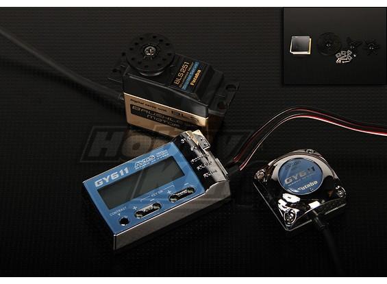 Futaba GY611 w / BLS251 Digital Brushless Heli Rudder Servo 3,8 kg / .06sec / 61g