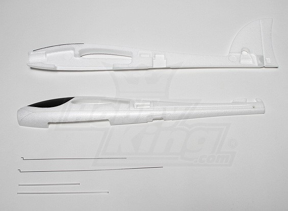 HobbyKing Kinetic fuselagem e tirantes
