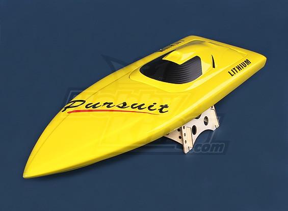Perseguição V-casco do barco (820 milímetros) de fibra de vidro Apenas Casco