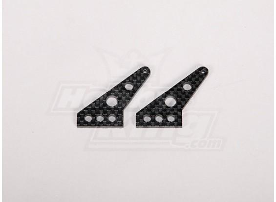Fibra de Carbono Controle Corno 35x24mm (2pcs / bag)
