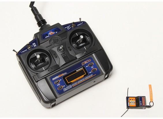 HK-7X 2.4Ghz 7CH w / 5 Modelo Memória TX e RX V2 (Modo 2)