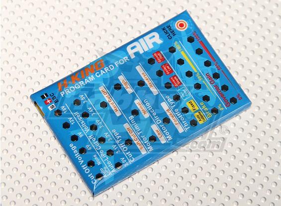 Cartão Programação H-King Air ESC