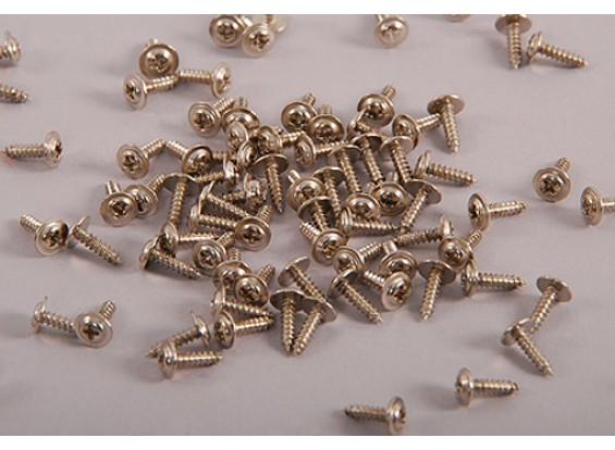 cabeça auto Tapping Machine Screw M2.5x8mm Phillip W / ombro (100pcs)