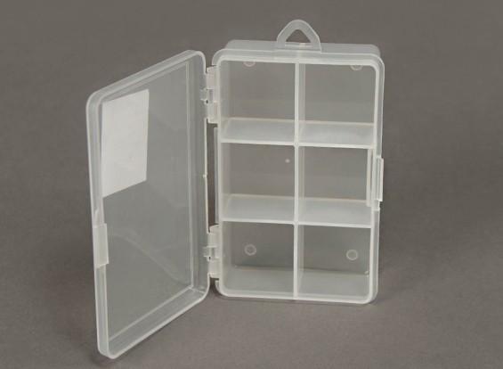 Plastic Multi-Purpose Organizador 6 Compartimento